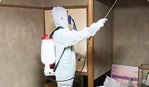 消毒剤の噴霧-特殊清掃